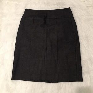 Banana Republic Dark Gray Stretch Pencil Skirt